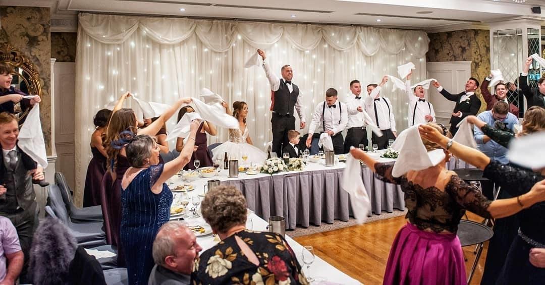 amazing wedding singing waiters ireland