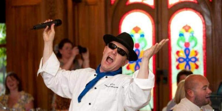 singing chef wedding entertainer