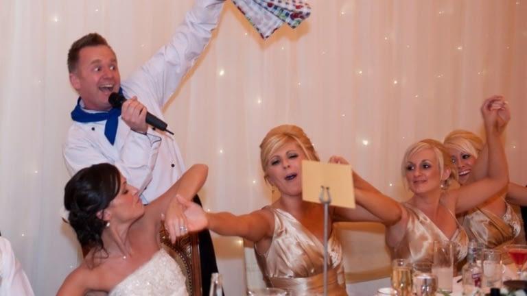 singing chef wedding entertainment